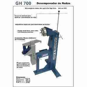 DEQ 700 – Desempenador de Rodas
