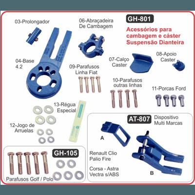 GH 801 acessórios para cambagem e caster suspensão dianteira