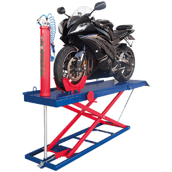 Elevador Pneumático vertical de Moto DEQPV450