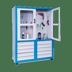 Armário para ferramentas com gavetas e portas com visor – ARMPM10