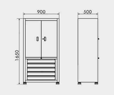 medidas armario com prateleiras de aço reguláveis ARMPM01