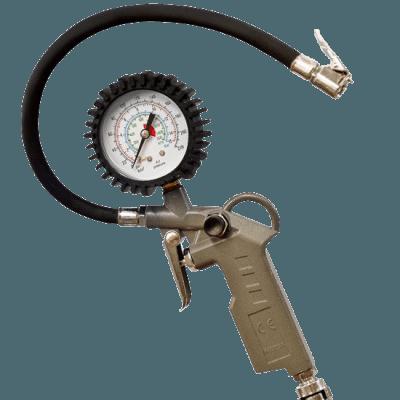 Bico, manômetro e registro calibrador