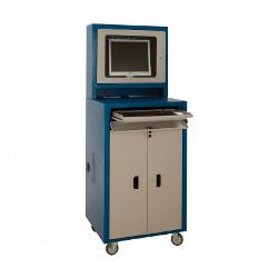Rack Industrial para PC com visor de vidro e 1 Gaveta – DEQRV05