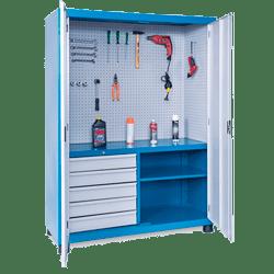 Armário de aço 2 portas com 1 Prateleira Fixa – ARMPM04