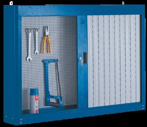 Armário de aço com porta e persiana em PVC