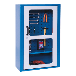 Armário de prateleira para ferramentas com chapa perfurada