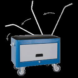Caixa para Ferramentas com rodinha e 1 Porta Retrátil