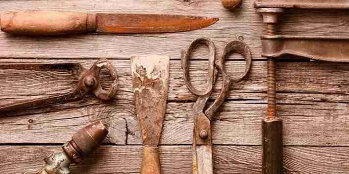 Como tirar a ferrugem das suas ferramentas