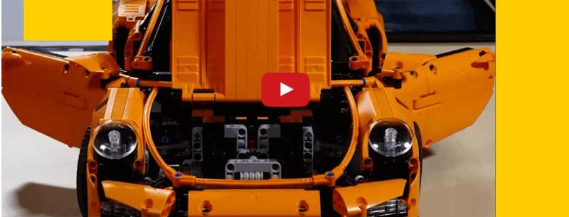 O que acontece com um Porsche de LEGO na mãos de gênios que adoram explodir coisas?