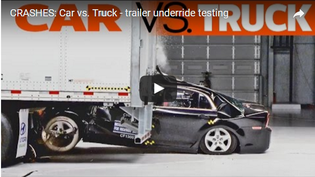 ACIDENTES : Teste de impacto no reboque (Carro x Caminhão)