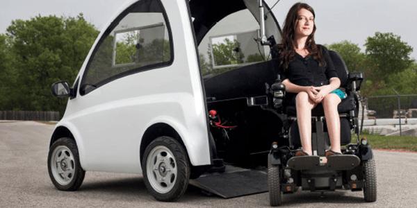 Como são os carros exclusivos para cadeirantes