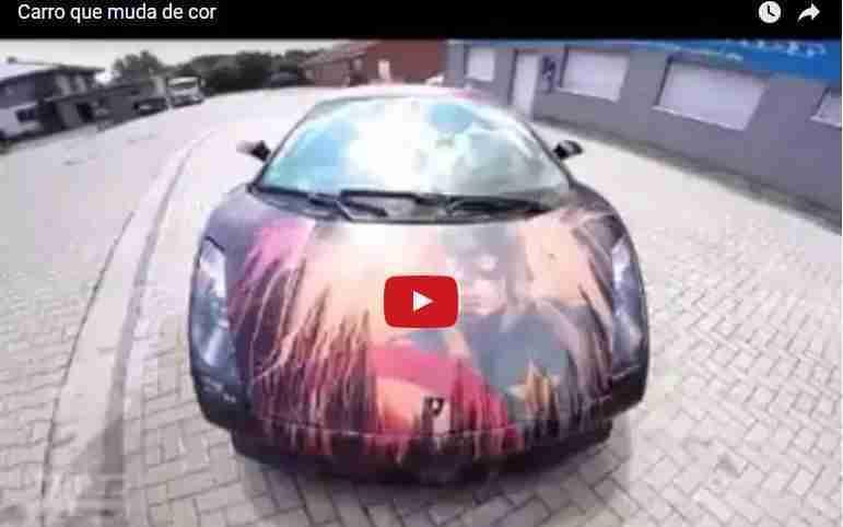 Os carros que mudam de cor