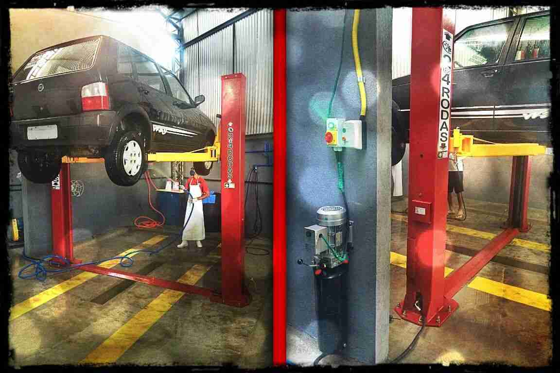 elevador automotivo para lavação de carro