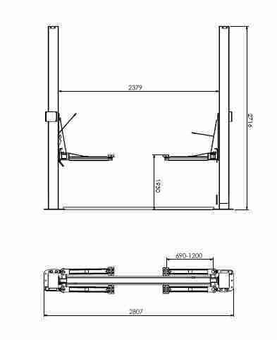 elevacar hidráulico 2200 diagrama