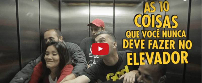 10 coisas que não se deve fazer no elevador