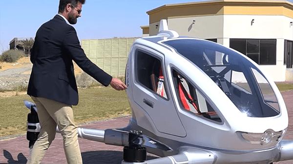Como será o táxi voador de 2018