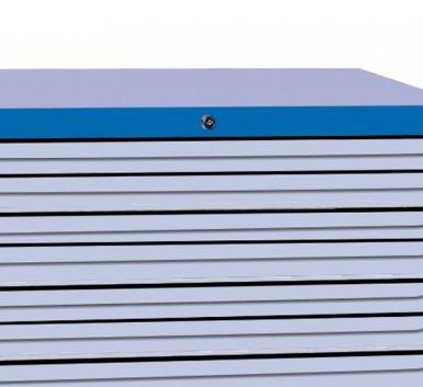 GAVPM816A - Gaveteiro Organizador para Oficinas com 2 Gavetas e 1 Porta com Visor de Acrílico - GAVPM816A 3