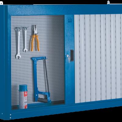 Armário de aço com portas e persiana em PVC 216A