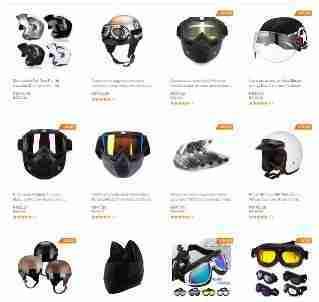 Capacetes para Motociclistas óculos