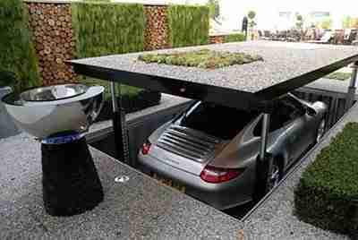 garagem escondida