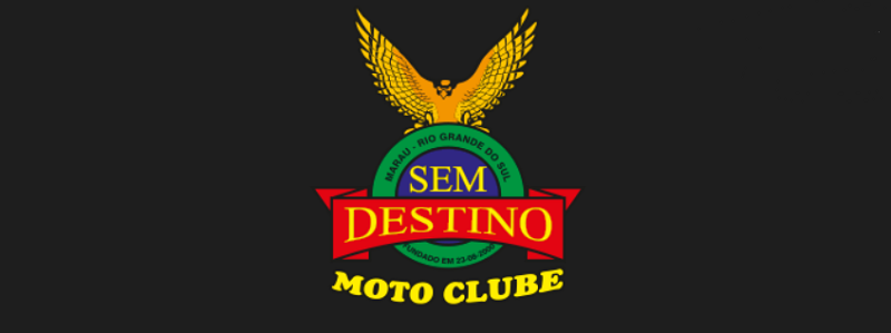 Logo da Sem destino Moto Clube