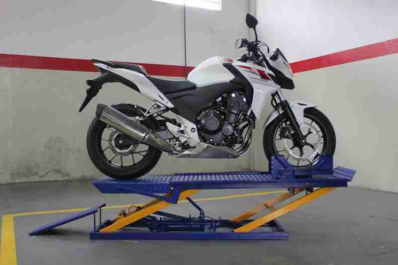 rampa de moto hidráulica para 400 kg fabrica