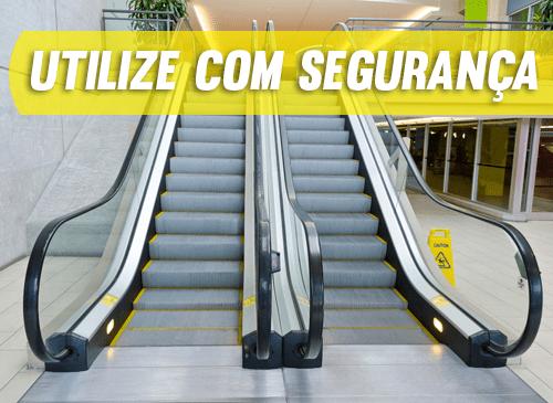 Como utilizar a escada rolante com segurança